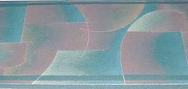 Wallpaper Border Modern Geometric Lines Arc Green Burgundy Teal Silver EH10051 - $14.83