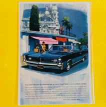 Vintage 1963 Print Ad For Pontiac Grand Prix Two Door Sedan - $9.85