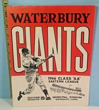 1966 Waterbury Giants AA Baseball Program & Ticket Stub - $29.65
