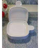 Vintage Pyroceram Corning Ware Corelle White Centura Grab It Snack Dish ... - $42.99