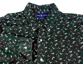 Ralph Lauren mens button front shirt XL X Large custom fit duck hunt pat... - $33.95