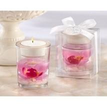 Orchid Gel Candle Favors Tealight Holder Bridal Shower Favors Beach Wedd... - $3.71