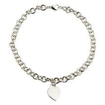 Tiffany & Co. PLATA DE LEY 925 vacío Corazón Placa Eslabón Collar 40.6cmL - $311.84