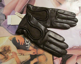 UGG Gloves Krewe Brown Leather Medium NEW $165 - $125.00