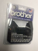 2 Pack Brother 1230 Black Correctable 1030 Film Ribbon Brand New Factory Sealed - $11.87