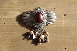 Vintage Unmarked Dangly Brooch - $7.13