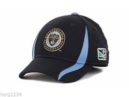 ae892b7e5f699 Philadelphia Union Adidas MLS Player Stretch Fit Soccer Cap Hat SM MED -  £15.18