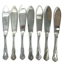 7 Newbridge Restaurant Ware Kings Shell Pattern Fish Knives Silverplated... - $33.63