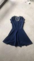 Womens Blue Ribbed Julia Dress Size XS Stretch Nice Cute Wedding Party Dress - $11.29