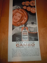 Vintage Cameo Copper Cleaner Print Magazine Adv... - $3.99