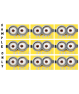 9 Despicable Me Inspired eyes, Stickers, Minion Goggles, eyes, party, bi... - $8.99