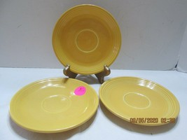 3 Fiestaware  SAUCERS ONLY  GOLD  2 Marked (2) - $13.86