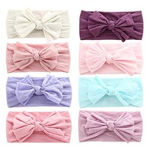 Baby Girl Nylon Headbands Newborn Infant Toddler Hairbands and Bows Chil... - $19.54