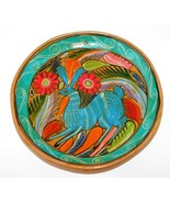 Vintage Mexico Talavera JACK RABBIT Terracotta Clay Plate Primitive Folk... - $33.64