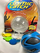 Hasbro NERF Cosmic Catch Electronic Talking Ball Game Blue with 4 Wristb... - £21.49 GBP