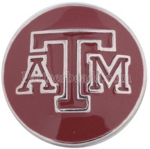 Texas Aggie A&M College 20mm Snap Charm For Interchangeable Ginger Snaps... - $6.19
