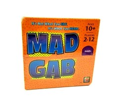 Mattel Mad Gab Game Fun Party Game for Adults & Kids Ages 10+ NEW SEALED - $22.95