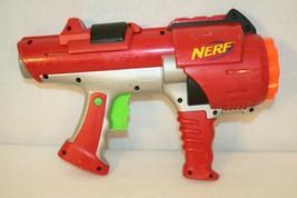 NERF Dart Tag Hyperfire Barrel Gun Blaster Red Rotating Shot Hasbro 05 UNTESTED - $24.95