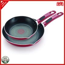 Frying Pan Set 2 Piece 8/10.5 Inch Long Lasting Aluminum Ergonomically D... - $28.73