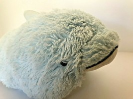 "Pillow Pets Pee-Wees plush pillow stuffed animal light blue dolphin measures 15"" - $5.89"