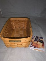 Longaberger 2000 Success Start Award Classic Address Basket with Protector - $37.20