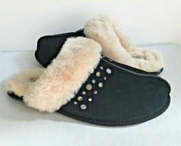 Ugg Scuffette Ii Studded Bling Black Shearling Lined Slipper Us 11 / Eu 42 /UK 9 - $79.48