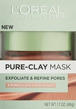 Clay Facial Mask, L'Oreal Paris Skincare Pure Clay Face Mask with Red Al... - $9.04