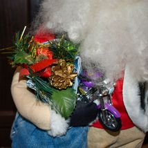 "Handcrafted ""Big Nick"" Biker Santa Claus Father Christmas Signed 24"" Cloth Doll image 5"
