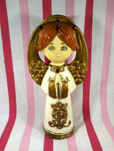 Lovely Mid Mod ARDCO 1960's Ceramic Praying ANGEL w/ Jewels Hand Painted... - $16.00