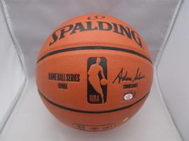 KARL MALONE / NBA HALL OF FAME / AUTOGRAPHED FULL SIZE NBA LOGO BASKETBALL COA image 4