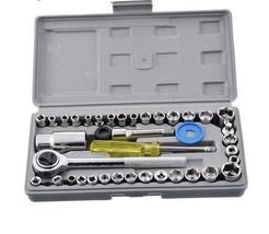 Repair Kit 40pc Tools Precision Socket Wrench Set Screwdriver Auto Car F... - $28.04