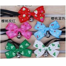 [Cherries] Bowknot Collar/Bow-Tie with Bell for Cat & Dog(Random Color)