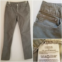 Gap Girls 14 Pants Gray Silver Glitter Inseam 29 Stretch Adjustable Waist X21MP - $14.99