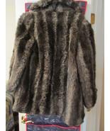 Jordache Womens Winter  Raccoon Fur Jacket Size 9-10 - $49.95