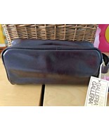 NWT Gallery Genuine Leather Men's Shaving Toiletry Dopp and Travel Bag Z... - $18.30