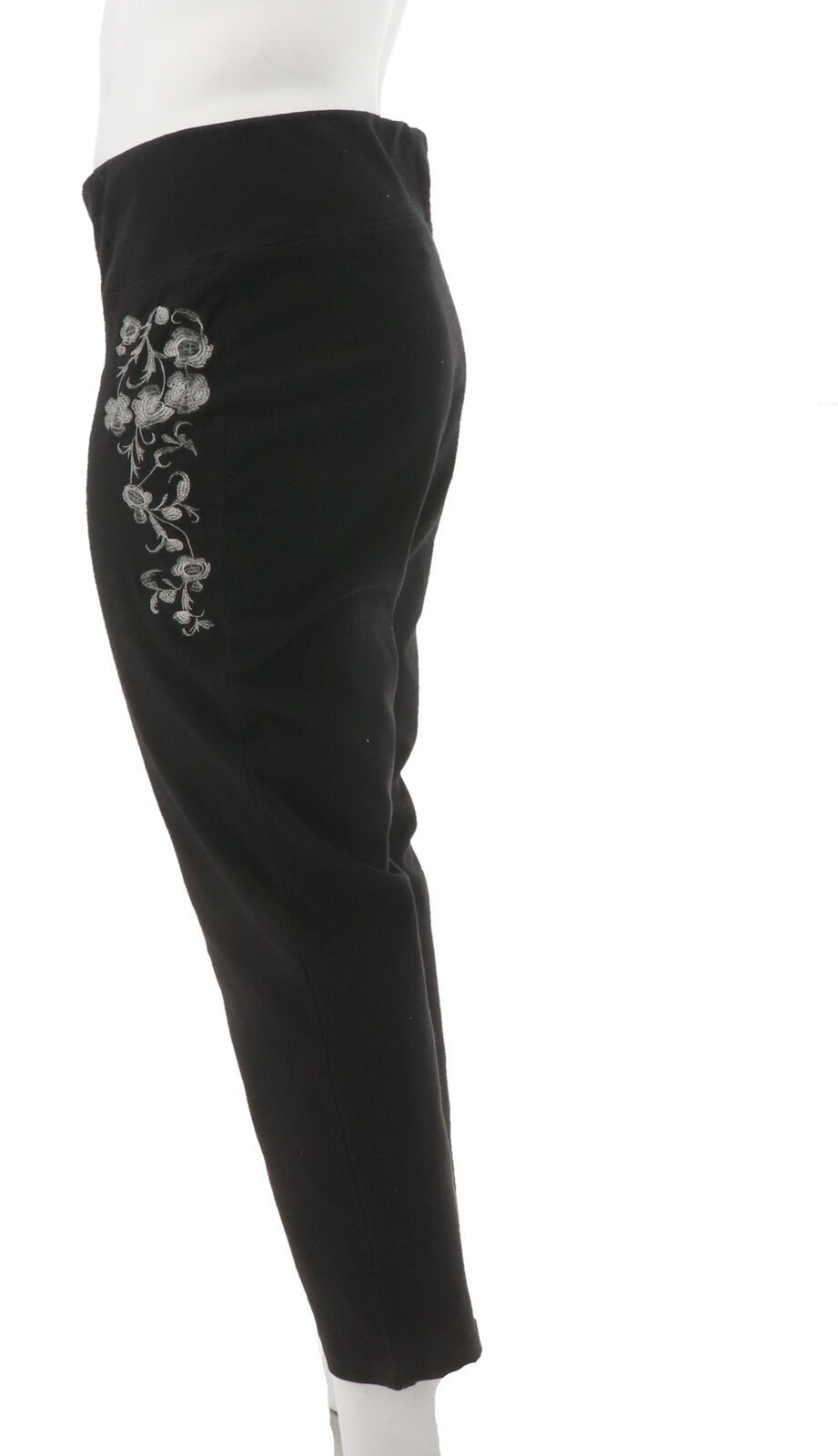 Women with Control Prime Stretch Denim Novelty Jeans Black L NEW A301364 image 2