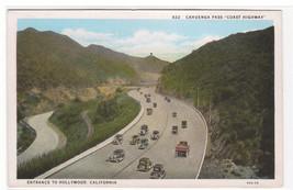 Cahuenga Pass Coast Highway Hollywood California 1920s postcard - $6.44