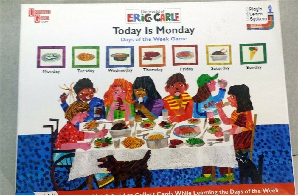 Primary image for Today Is Monday Days Of The Week Board Game for Children Eric Carle