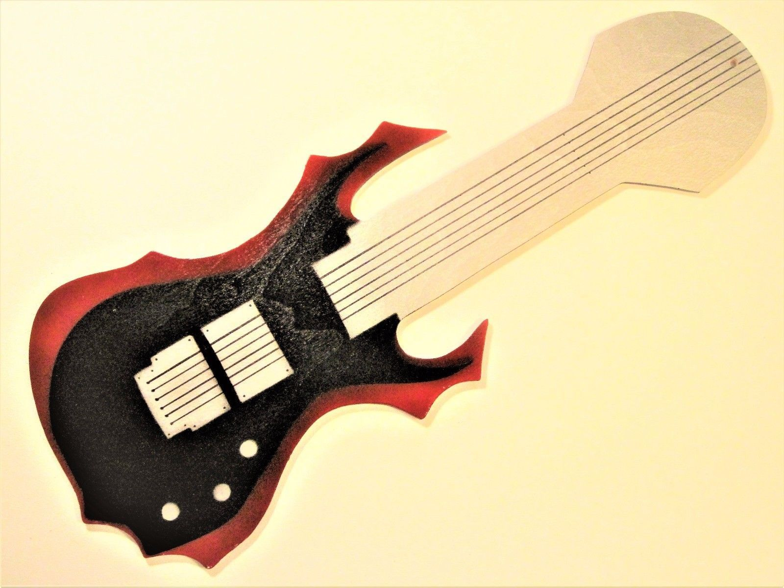 Evil electric guitar shaped ceiling fan and 16 similar items evil electric guitar shaped ceiling fan blades aloadofball Choice Image