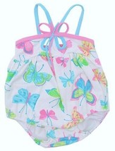 Kate Mack Baby Girls White Pink Size 6 Months One Piece Butterfly Swimsu... - $21.51