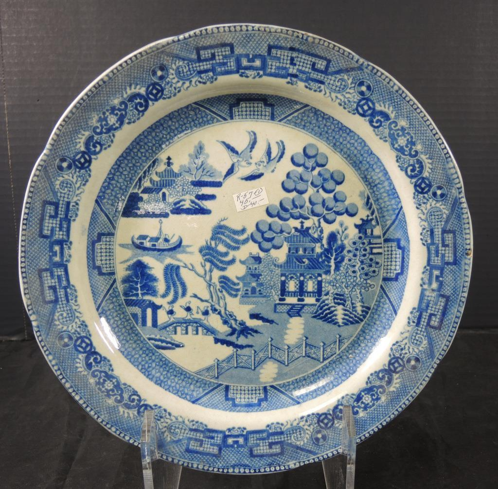 ... Three Antique Blue Willow Plates * Unsigned ... & Three Antique Blue Willow Plates * Unsigned and 18 similar items