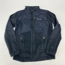 Columbia Zip Up Fleece Jacket Youth L 14-16 Long Sleeve Black Poly Nylon... - $18.95
