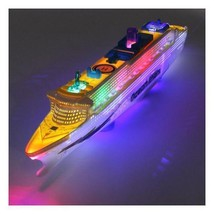 Ocean Liner Cruise Ship Boat Electric Toy Flashing LED Lights Sounds Kid... - $18.99