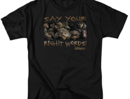 LABYRINTH Say your right words tee retro 80's Sci-fi graphic t-shirt LAB107 image 2