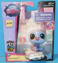 Littlest Pet Shop Singles Combo #123 PETS in the CITY Duva Pombo dove - $4.99