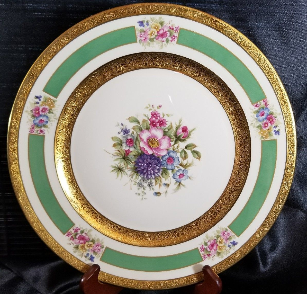 "Primary image for ROSENTHAL 5841 11"" Service PLATE GOLD ENCRUSTED  FLORAL (multiple available)"