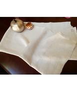 Vintage Rustic Linen Ecru color Tablecloth 56x52 Dining - $39.60