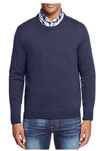 The Men's Store at Bloomingdale's Merino Crewneck Sweater, Size S, $88 - $39.59