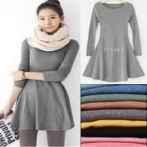Long Sleeve Skater Women Mini Sweater Dress - $12.99