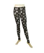 Philipp Plein Black & White Skulls Leggings Elastic Viscose trousers pan... - $147.51
